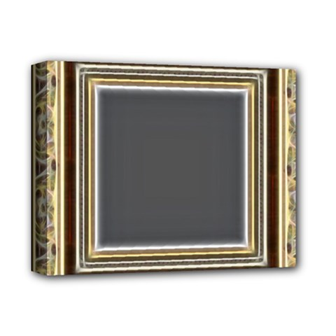 Fractal Classic Baroque Frame Deluxe Canvas 14  X 11  by Simbadda