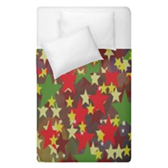 Star Abstract Multicoloured Stars Background Pattern Duvet Cover Double Side (single Size) by Simbadda