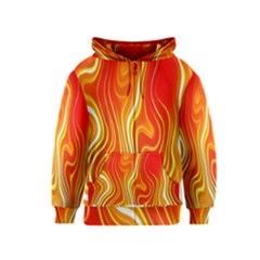 Fire Flames Abstract Background Kids  Zipper Hoodie