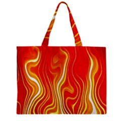 Fire Flames Abstract Background Zipper Mini Tote Bag by Simbadda