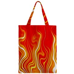 Fire Flames Abstract Background Zipper Classic Tote Bag by Simbadda
