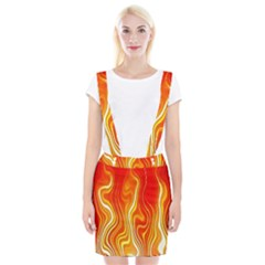 Fire Flames Abstract Background Suspender Skirt by Simbadda