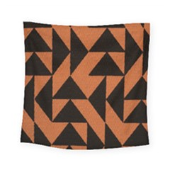 Brown Triangles Background Square Tapestry (small) by Simbadda