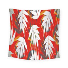 Leaves Pattern Background Pattern Square Tapestry (small) by Simbadda