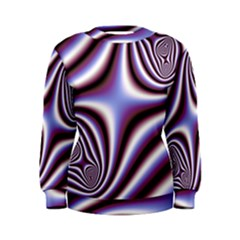 Fractal Background With Curves Created From Checkboard Women s Sweatshirt by Simbadda