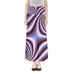 Fractal Background With Curves Created From Checkboard Maxi Skirts by Simbadda
