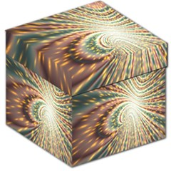 Vortex Glow Abstract Background Storage Stool 12   by Simbadda