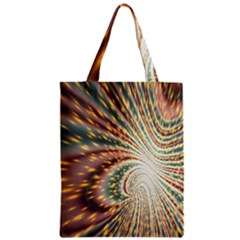 Vortex Glow Abstract Background Zipper Classic Tote Bag by Simbadda