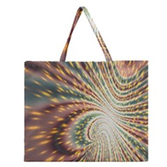 Vortex Glow Abstract Background Zipper Large Tote Bag