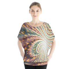 Vortex Glow Abstract Background Blouse by Simbadda
