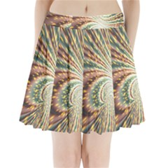 Vortex Glow Abstract Background Pleated Mini Skirt by Simbadda