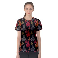 Leaves Pattern Background Women s Sport Mesh Tee by Simbadda