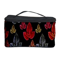 Leaves Pattern Background Cosmetic Storage Case by Simbadda