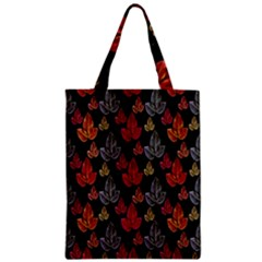 Leaves Pattern Background Zipper Classic Tote Bag by Simbadda