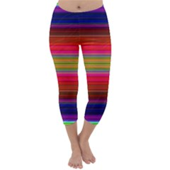 Fiestal Stripe Bright Colorful Neon Stripes Background Capri Winter Leggings