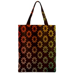 Grunge Brown Flower Background Pattern Zipper Classic Tote Bag
