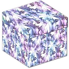 Floral Pattern Background Storage Stool 12   by Simbadda
