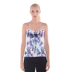 Floral Pattern Background Spaghetti Strap Top by Simbadda