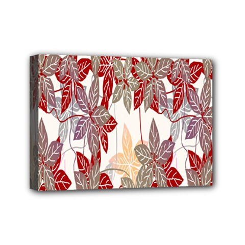 Floral Pattern Background Mini Canvas 7  X 5  by Simbadda