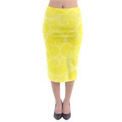 Pattern Midi Pencil Skirt