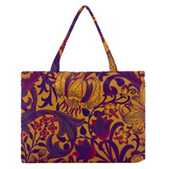 Floral Pattern Medium Zipper Tote Bag by Valentinaart