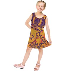 Floral Pattern Kids  Tunic Dress by Valentinaart