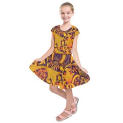 Floral Pattern Kids  Short Sleeve Dress by Valentinaart