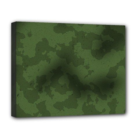 Vintage Camouflage Military Swatch Old Army Background Deluxe Canvas 20  X 16   by Simbadda