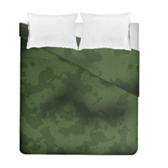 Vintage Camouflage Military Swatch Old Army Background Duvet Cover Double Side (full/ Double Size) by Simbadda