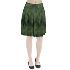 Vintage Camouflage Military Swatch Old Army Background Pleated Skirt
