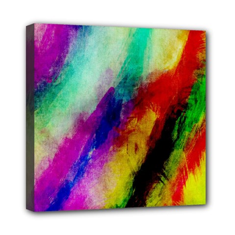 Colorful Abstract Paint Splats Background Mini Canvas 8  X 8