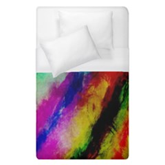 Colorful Abstract Paint Splats Background Duvet Cover (single Size) by Simbadda