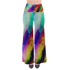 Colorful Abstract Paint Splats Background Pants