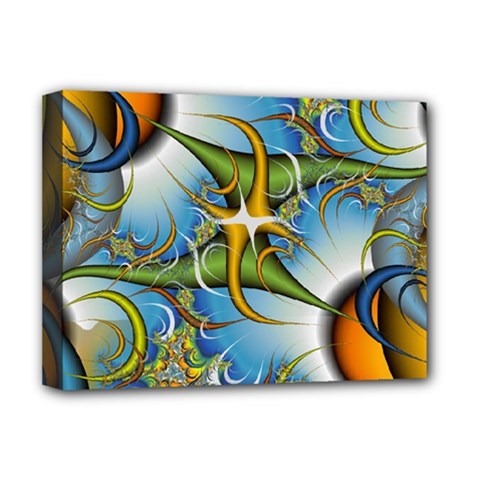 Random Fractal Background Image Deluxe Canvas 16  X 12