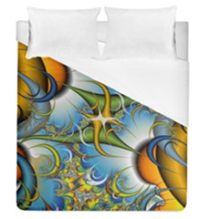 Random Fractal Background Image Duvet Cover (queen Size) by Simbadda