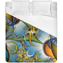Random Fractal Background Image Duvet Cover (california King Size)