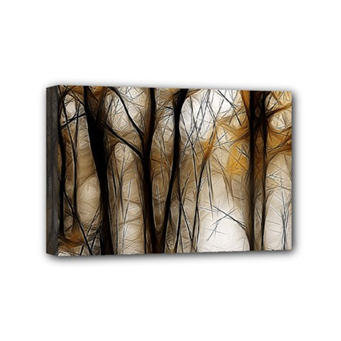 Fall Forest Artistic Background Mini Canvas 6  X 4  by Simbadda