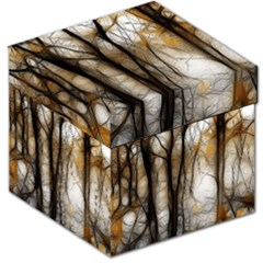 Fall Forest Artistic Background Storage Stool 12