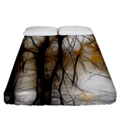 Fall Forest Artistic Background Fitted Sheet (king Size)