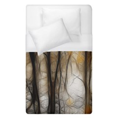 Fall Forest Artistic Background Duvet Cover (single Size) by Simbadda
