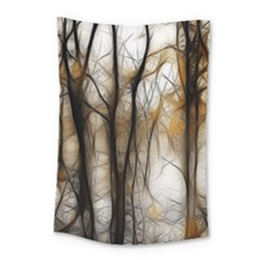 Fall Forest Artistic Background Small Tapestry by Simbadda