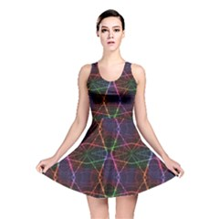 Black Neon Laser Beams Skater Dress by CoolDesigns