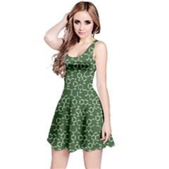 Green Organic Chemistry Pattern With Formulas Sleeveless Skater Dress