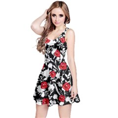 Blackshadowred Sleeveless Skater Dress
