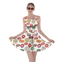 Colorful Donuts Pattern Skater Dress