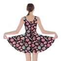 Black Yummy Colorful Sweet Lollipop Candy Macaroon Cupcake Donut Seamless Skater Dress  View2