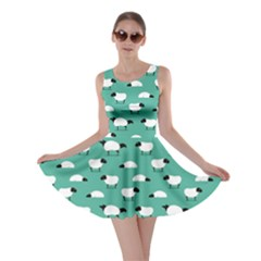 Green Wolf In Sheeps Clothing Wolf Dressed Skater Dress