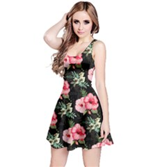 Hawaii Floral Sleeveless Skater Dress