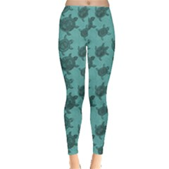 Turquoise Pattern Turtles Leggings by CoolDesigns