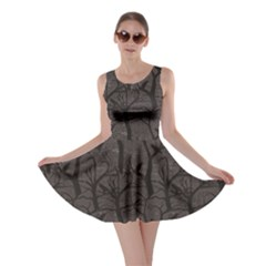 Black Pattern With Ravens Skater Dress by CoolDesigns